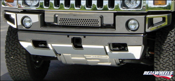 Hummer H2 Front Upper And Lower Bumper Overlay Cover Kit