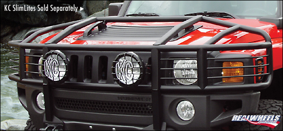 Hummer H3 Over The Hood Stainless Steel Brush Guard